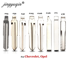 jingyuqin Flip Car key Blade No.03 #39 40 105 106 71# HU100 for Chevrolet Cruze SPrak Aveo Camaro Equinox Opel HU43 KD KEYDIY