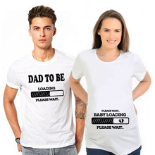 Dad To Be Baby Loading Couple T-Shirt Summer Funny Maternity Matching T Shirts Pregnancy Announcement Shirts Clothes Outfits(China)