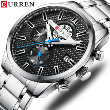 CURREN 8352 Chronograph Men Sports Watches Waterproof Full Steel Quartz Men's Watch