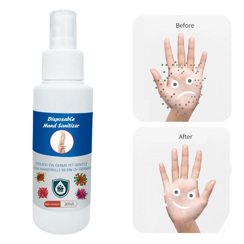 30ml Travel Portable Disposable Hand Sanitizer Spray Gel Waterless Wash Free Hand Sanitizer Spray For Daily Hand Gel TSLM1