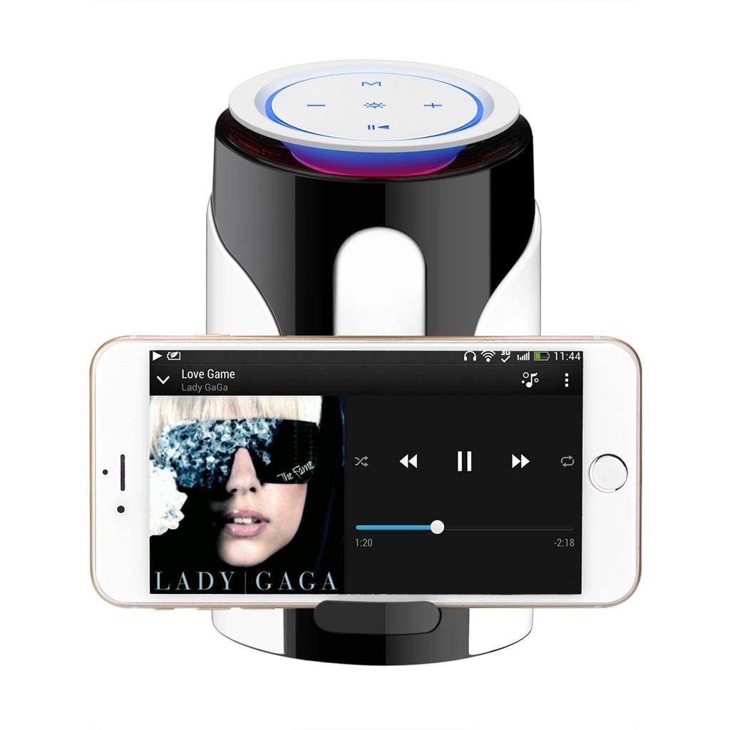 Lumière LED sans fil Portable Subwoofer petit haut-parleur Bluetooth haut-parleur téléphone maintien U disque et TF carte FM AUX Audio entrée 10m