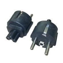 High quality black Copper 10A 250V Standart European standard to IEC320 C5 power adaptor plug convert socket
