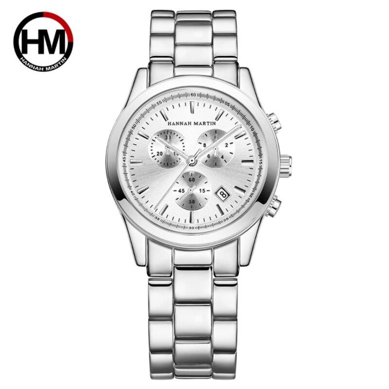 Hanna Martin Stainless Steel Waterproof Calendar Men 's Business Sports Leisure Quartz Watch Fashion Trend To Watch
