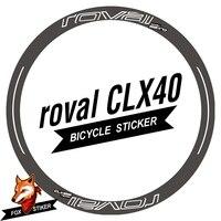 700C 40mm jant sticker yol disk fren bisiklet çıkartmaları döngüsü yansıtıcı yol tekerlekleri çıkartması R0VAL CLX40