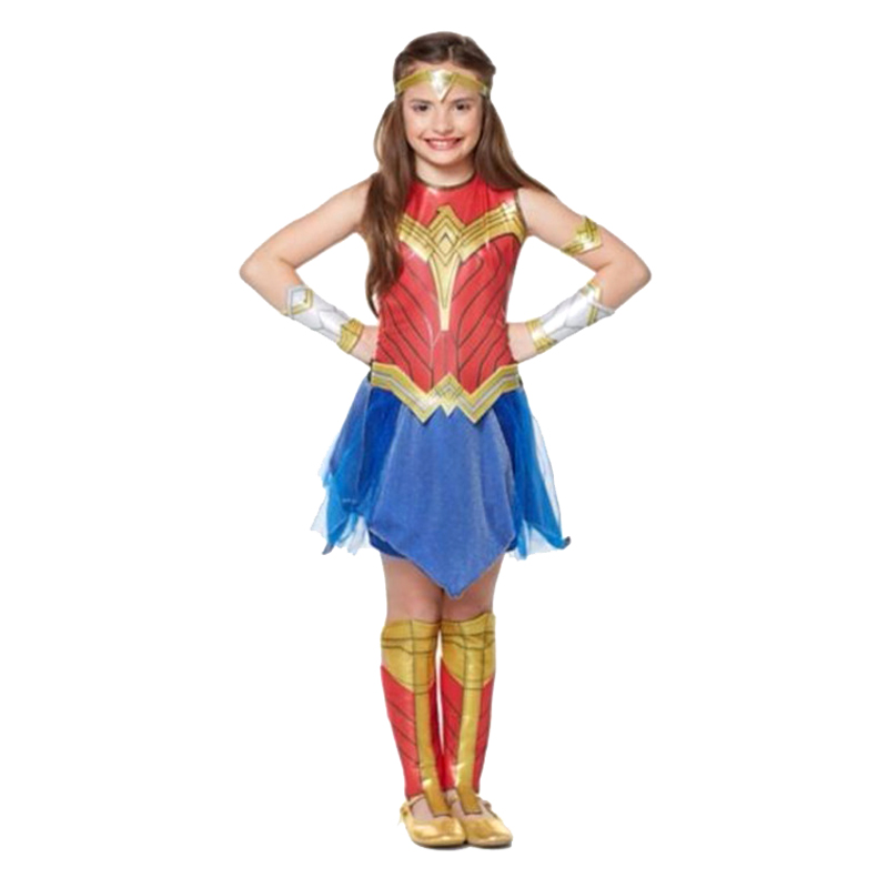 Deluxe Child Dawn Of Justice Wonder Woman Costume Kids Girls Fancy Dress Disguise Halloween Party Supergirl Cosplay