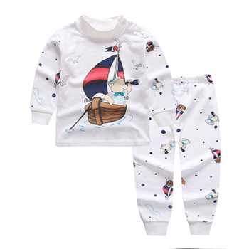 Children's Underwear Suit Boys New Autumn Winter Cute Cotton Pajamas Kids Baby Clothes for Girls Pants Long Johns Clothing Sets - discount item  50% OFF Children's Clothing