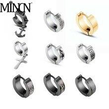 MINCN Rainbow earring charm stainless steel ear studs Women Classic Shining Zircon Small Stud For Crystal