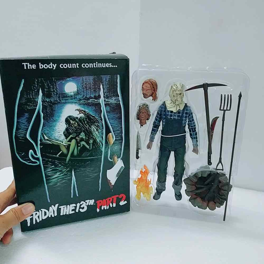 Parte 2 18cm NECA Friday the 13th Jason Voorhees Action Figure Modelo Boneca Brinquedos Para Presente