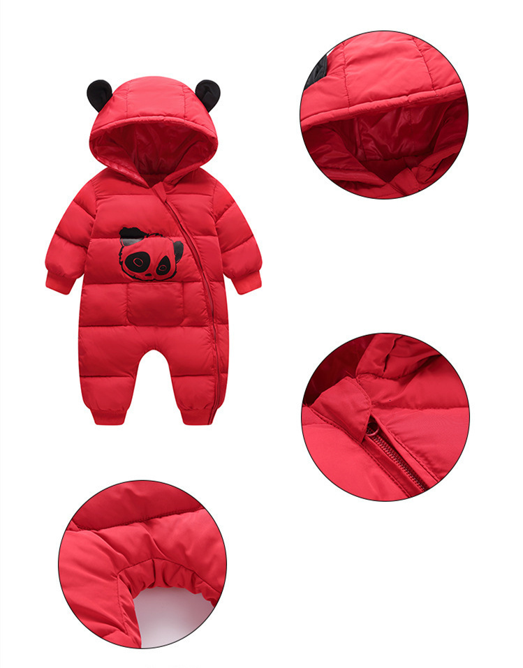 Hfc38b0929cf34d1293a735516a4ed17a9 Baby boy girl Clothes 2019 New born Winter Hooded Rompers Thick Cotton Outfit Newborn Jumpsuit Children Costume toddler romper