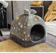 Sac de couchage en molleton doux pour chiens et chats, tente chaude pour animaux de compagnie, hiver, II50GW