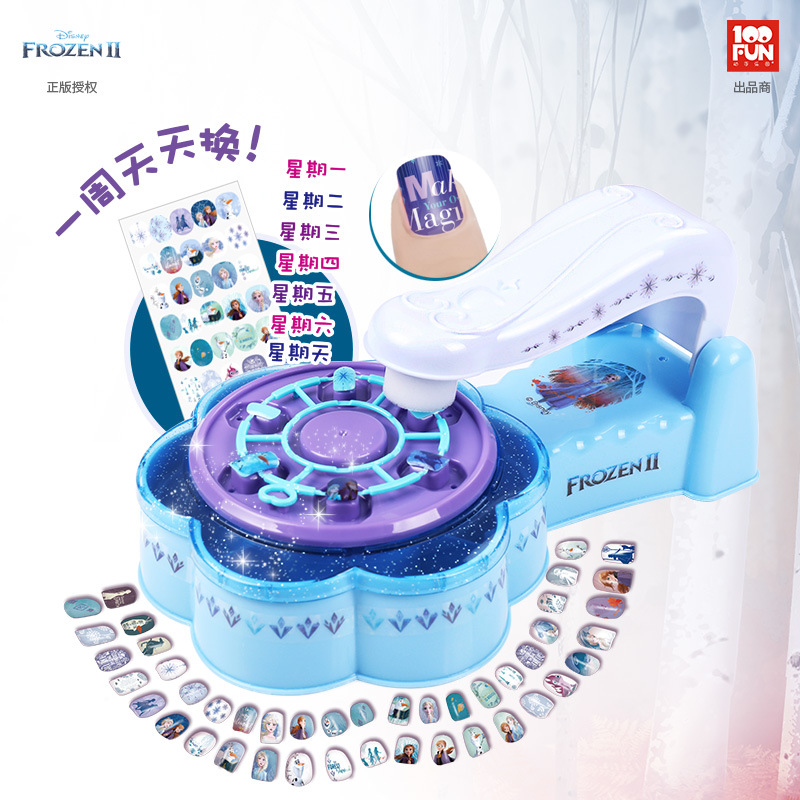 Disney Frozen 2 Girls Princess Elsa Anna Nail Sticker Set  With Original Box  Sticker Girl Play House Fashion Gift Toys