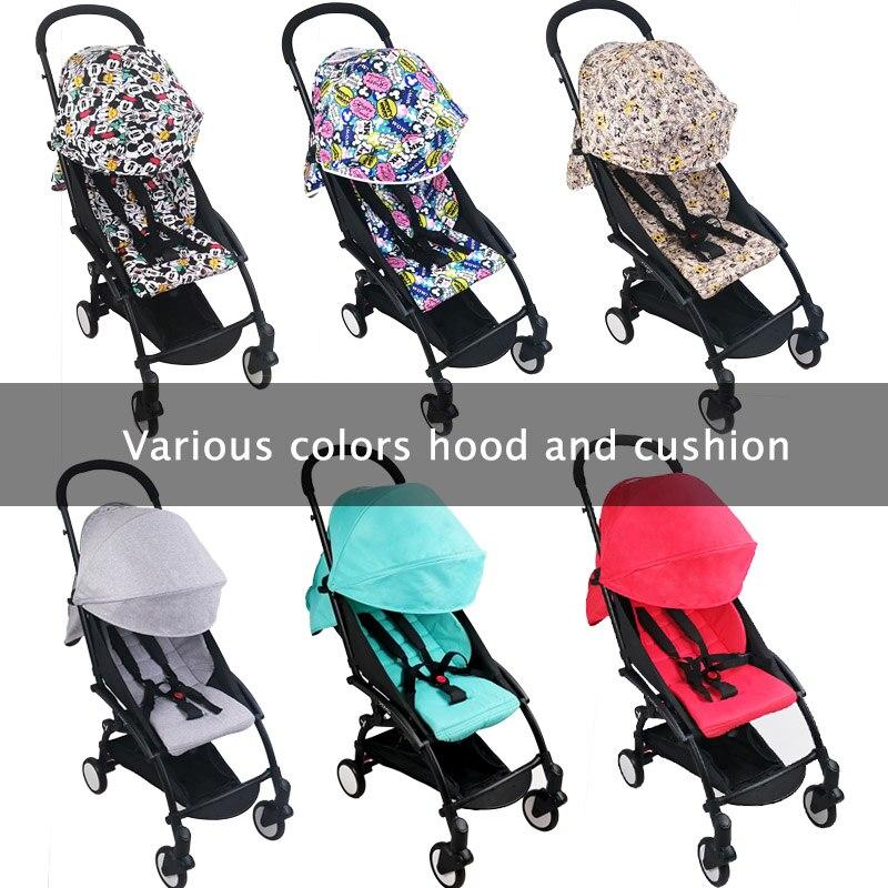 Stroller Hood Cushion Mattress Yoyo Yoya Baby Mesh-Pockets for 175 Throne Oxford-Cloth