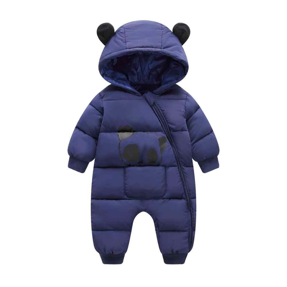 Autumn Winter Newborn Baby Clothes Jumpsuit Cotton Warm Snowsuit Boys For Girls Hooded Overalls For Children Unisex Baby Romper