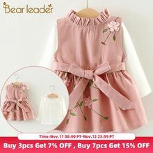 Bear Leader Baby Girls Dress New Long-Sleeve Princess Dress Kids Clothes Children Dress+Pineapple Backpack For Baby Dress