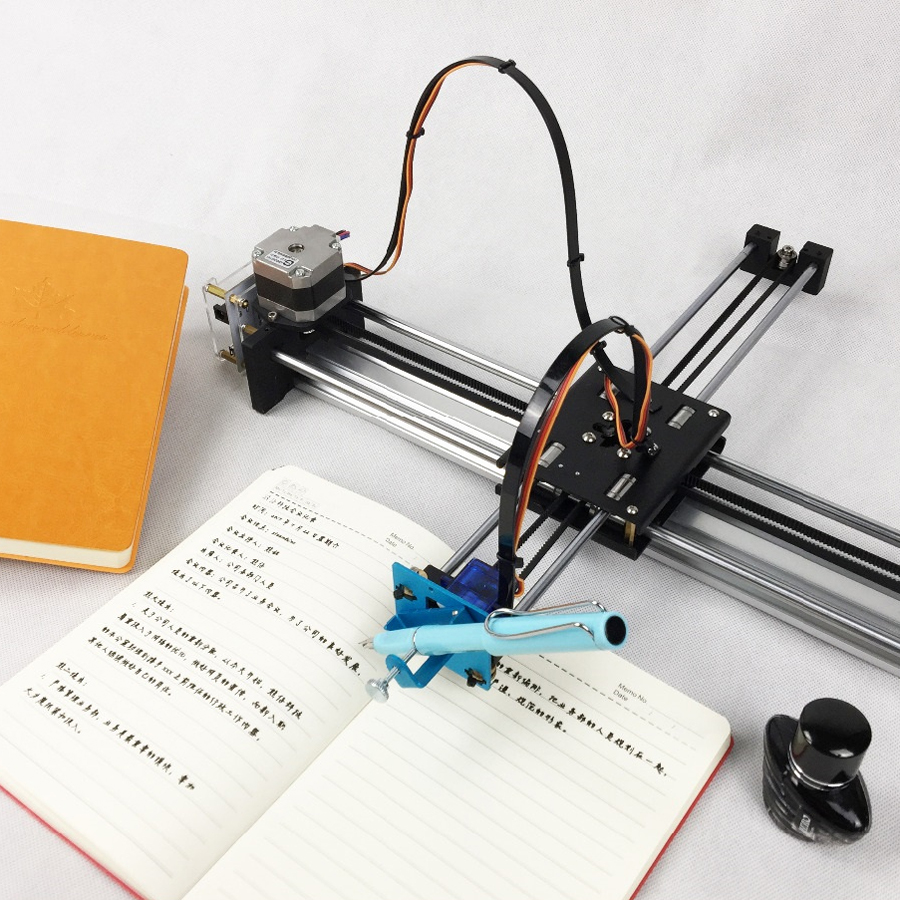 DIY XY Plotter High Precision Drawbot Pen Drawing Robot Machine CNC Intelligent Robot For Drawing Writing 90 corner clamp shopify