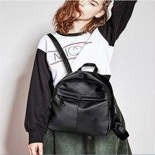 Casual Oxford Backpack Black Women Waterproof PUleather Backpack School Bags for Teenage Girls High Quality Travel Tote Backpack