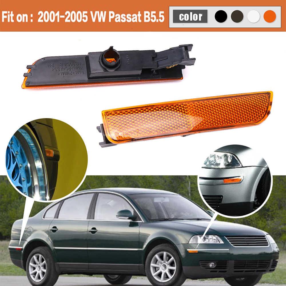 Left White Front Bumper Side Marker Lights For 2001-2005 VW Passat B5.5