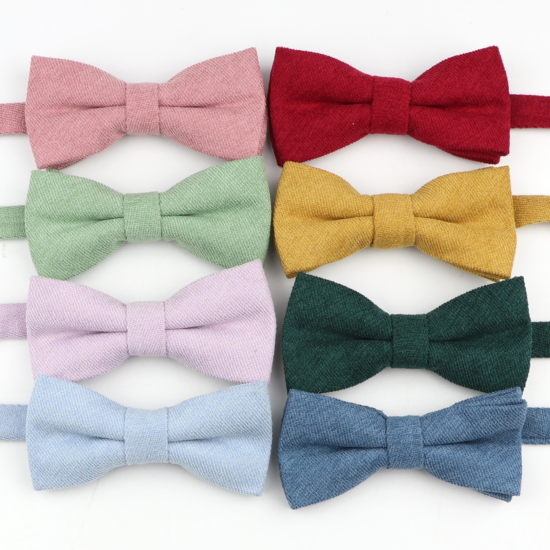 Clássico criança bowties bebê menino borboleta moda listrado tecido de veludo ajustável gravata borboleta crianças doce cor laço