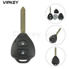 Télécommande à 2 boutons, 434mhz, avec puce 4D67, pour voiture Toyota Auris Corolla Verso Yaris, Toy47, 2009 2013