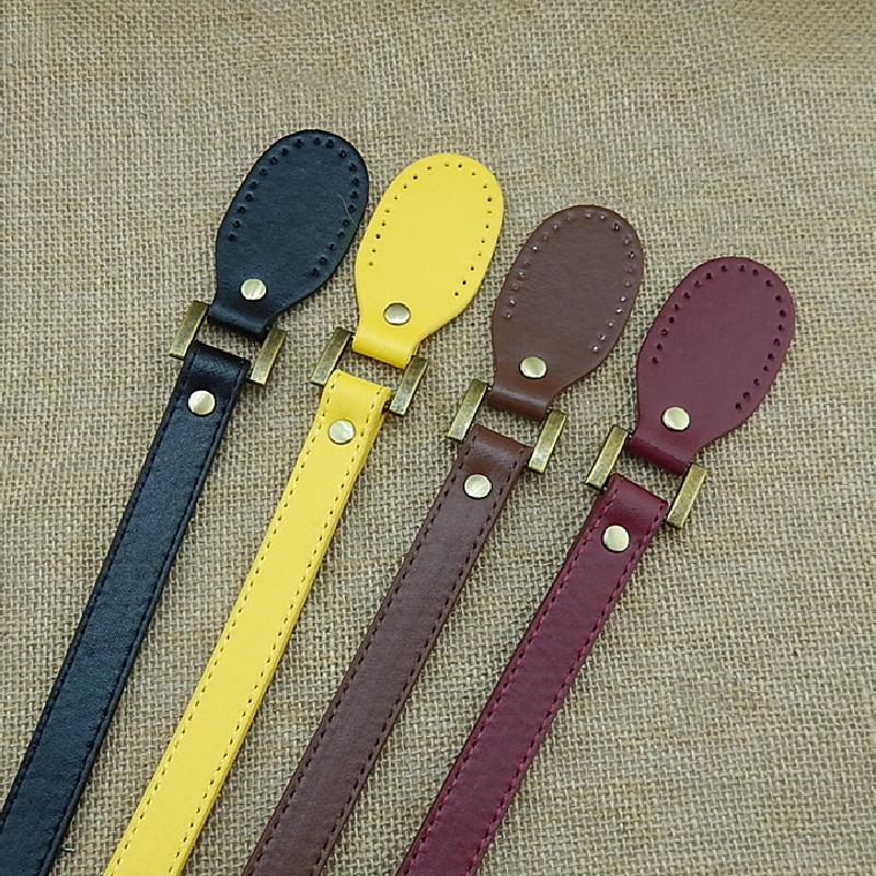 Replacement Flat Pu Leather Belt Handle For Women Basket Bucket City Chic Handbag Ladies Solid Color Bag Strap Accessories