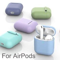 Casos de silicone macio para airpods 1/2 caso protetor tpu bluetooth sem fio fone de ouvido capa para vagens ar caixa de carregamento sacos