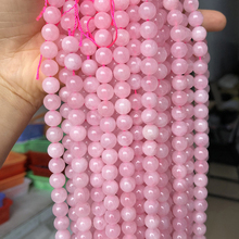 Natural Rose Quartzs Crystal Stone Beads Round Loose Spacer Beads For Jewelry Making DIY Bracelet Necklace 15