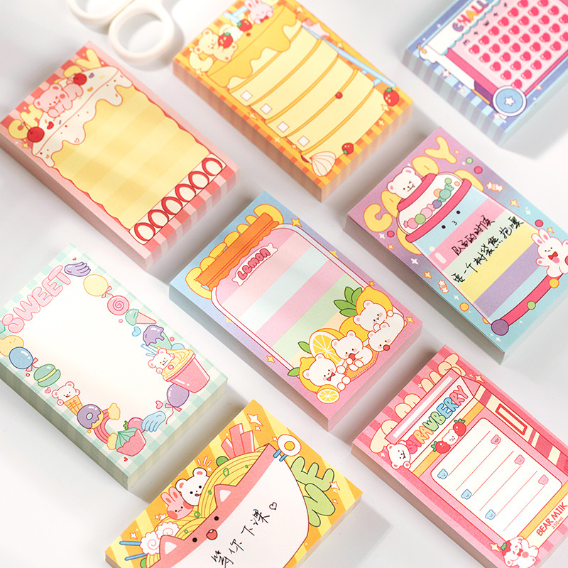 100PCS/Set Cute Kawaii Stationery Memo Pads Paper Planner Weekly TO DO LIST Post It Note Pads Office School Supplies Colorful