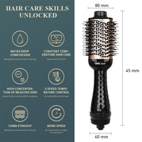 Electric Hair Brush One Step Hair Dryer Styler Brush Hot Air Iron Hair Straightener Comb Automatic Wave Formers Hair Curler 4