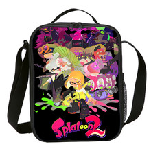 Kleine Lunch Tas Jongens Meisjes Anime Cartoon Splatoon 2 Brief 3D Printing Ice Bag Kids Geïsoleerde Thermische Picknick Lunchbox Sac EEN Belangrijkste(China)