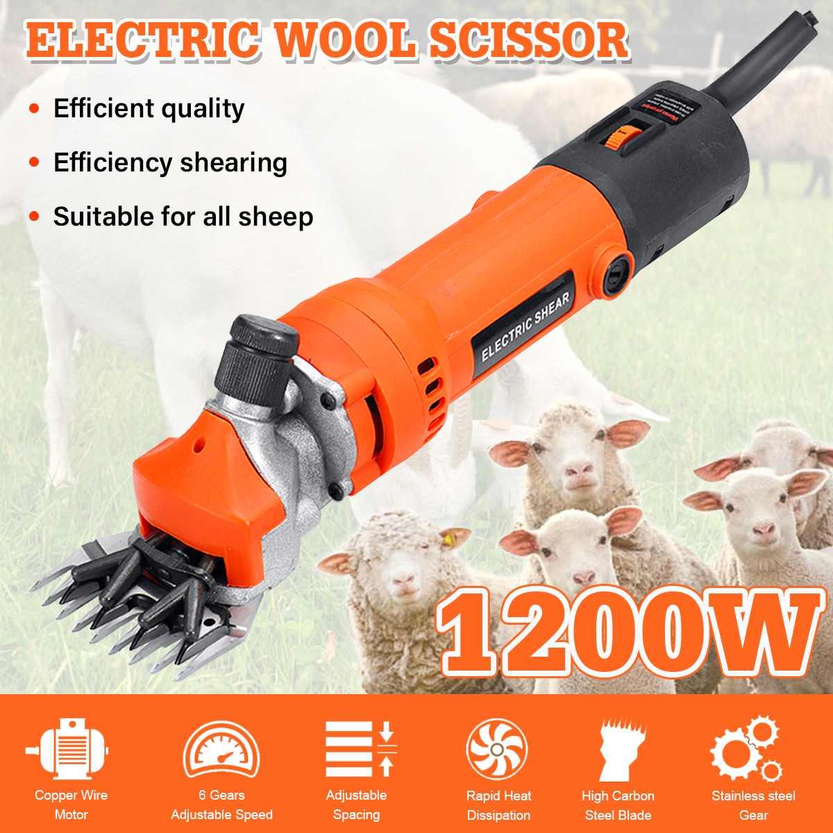 1200W Electric Sheep Shearing Machine Clipper Shear Goats Alpaca Shears Pet Hair Shearing Cutter Wool Scissor Farm Cut Machine