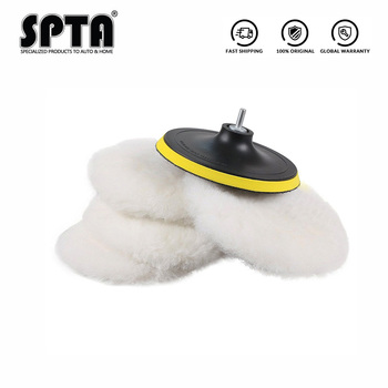 """SPTA 2''/3""""/4""""/5""""/6/7'' Artificial Woollen Polishing Buffing Pad Polisher Pads For Car Detailing Waxing Polishing Buffer NEW"""