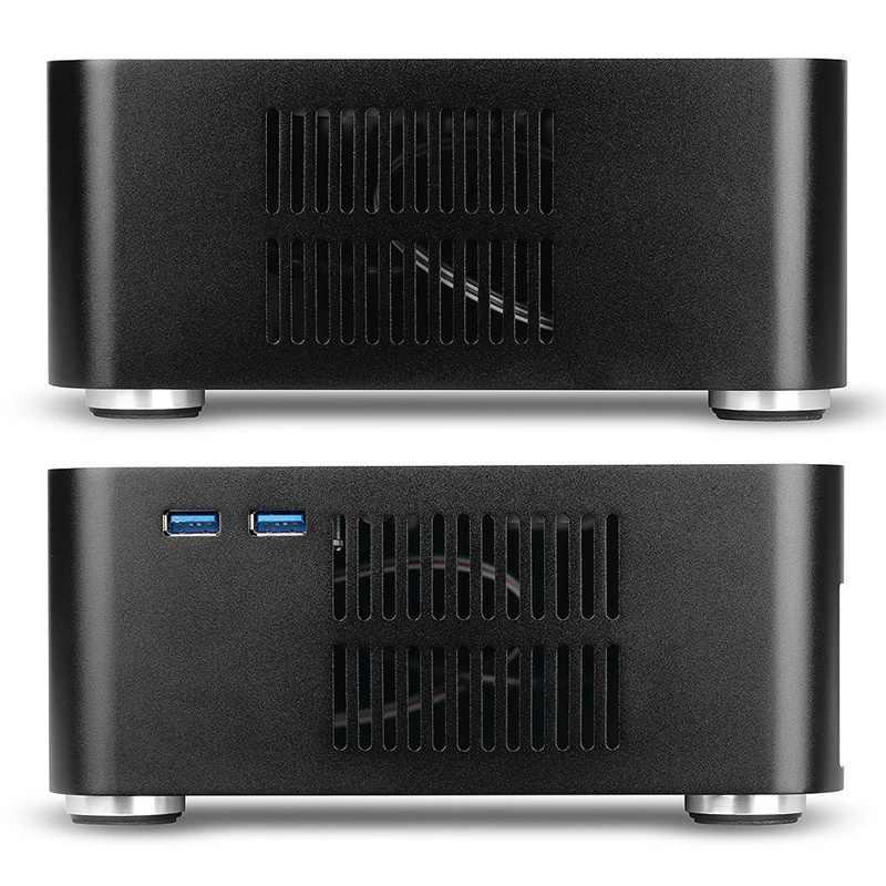 L80S Computer Cases Aluminium Chassis Desktop Mainframe mit Usb 3,0 Port Hohl für Spiel Chassis Diy Mini Pc Itx Fall