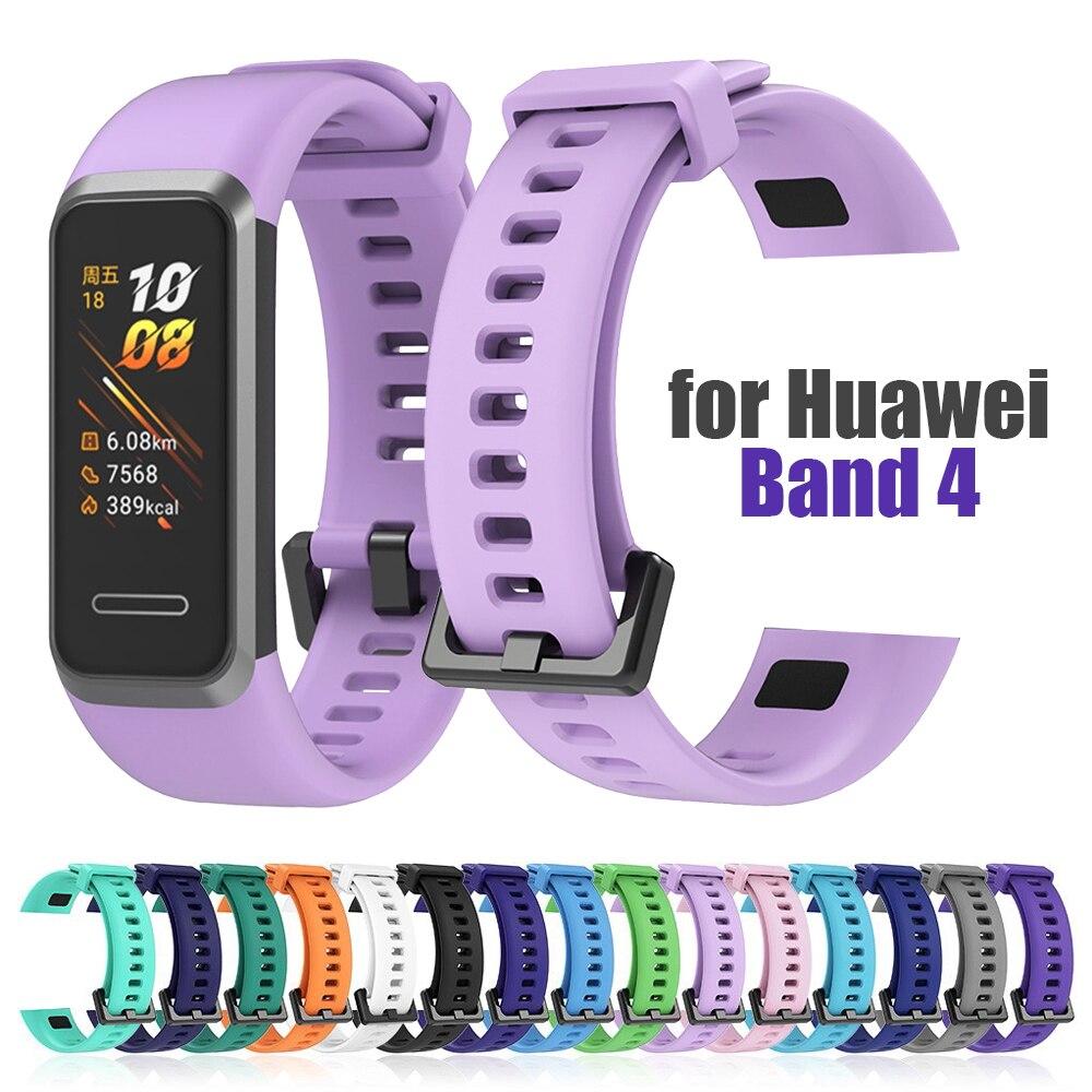 Силиконовый ремешок для Huawei Band 4, браслет для наручных часов huawei4, силикагелевый браслет