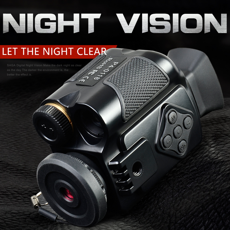 SAGA Mini Digital Infrared night vision Monocular Scope 5 zoom visor imager for Hunting Camping Outdoor Hunter telescope