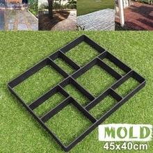 45x40cm Manually Paving Cement Brick Molds DIY Plastic Pathway Maker Mold Garden Stone Road Concrete Molds For Home Garden