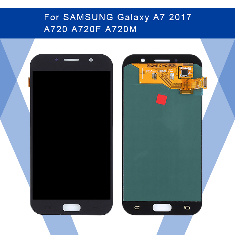 For <font><b>SAMSUNG</b></font> Galaxy A7 2017 A720 <font><b>A720F</b></font> LCD AMOLED Display <font><b>Screen</b></font>+Touch Panel Digitizer Assembly For <font><b>SAMSUNG</b></font> Display Original image