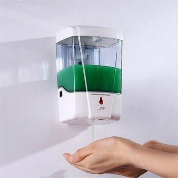 700ml Liquid Soap Dispenser Wall Mounted IR Sensor Automatic Soap Dispenser Touch-Free Soap Lotion Pump For Kitchen Bathroom