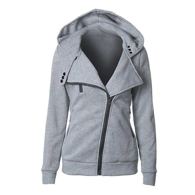 OEAK Autumn Zipper Warm Fashion Hoodies Women Long Sleeve Hoodie Jackets Hoody Jumper Overcoat Outwear Female Sweatshirts
