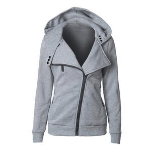 OEAK Hoodies Women Sweatshirts Jackets Jumper Overcoat Zipper Warm Long-Sleeve Female