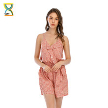 CGYY Summer Dresses Ladies 2021 Boho Sleeveless Casual Jumpsuit Rompers Women Sexy V Neck Floral Overalls House Of Sunny Vestido