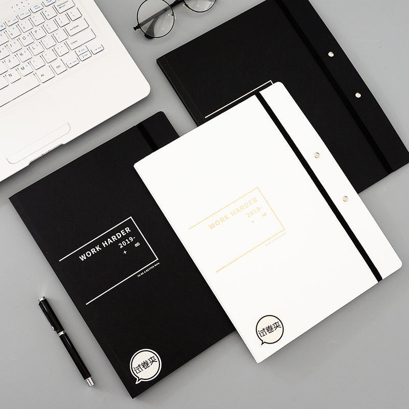 New Stationery A3 PP File Folder Paper Clip Office Clipboard Rubber Binding Expanding Horizontal Writing Pad Display Book