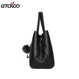 Image 2 - 女性のハンドバッグファッションレザーハンドバッグデザイナー高級バッグショルダーバッグ女性最高ハンドルバッグ 2020 新