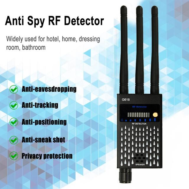 Profession RF Signal Detector Anti-Spy Tapping Anti Detector Eavesdropping Pinhole Audio Bug GSM Device Finder Anti Spy Gadgets 5