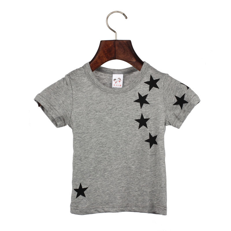 O Neck T Shirt Tees 1st <font><b>birthday</b></font> boy <font><b>baby</b></font> girl summer tops <font><b>tshirt</b></font> <font><b>baby</b></font> new Children Boy Kids Child Cotton Star Short Sleeve Tops image