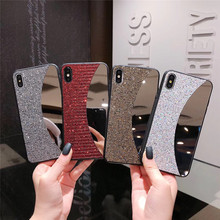 Luxury Bling Back Phone Case For iPhone 6 6S 7 8 Plus Fashion Mirror Diamond Designer XS Max XR