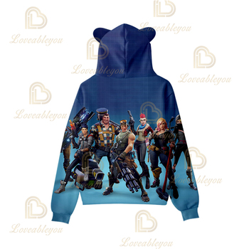 Battle Game 3D Boys Girls Hoodies Game Royale Smash Pony Horse Sweatshirt Hooded Casual Streetwear Autumn Clothes