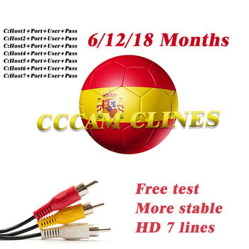 1 Year CCCAM for Spain portugal Receptor Italy Europe Full HD Satellite Receiver Cccam cline 7 lines for DVB-S2 V8 NOVA V9 receptor satelite cccam cline for 1 year spain cccam espa a usb wifi free 7 lines cccam portugal poland europe ccam 1 year spain