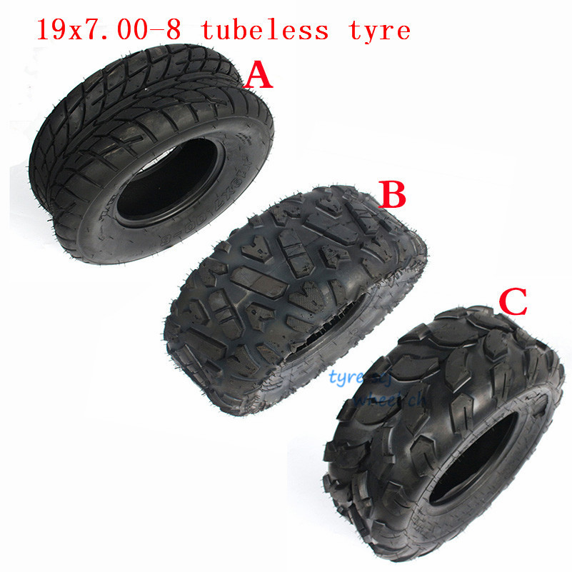 8 Inch ATV <font><b>Tire</b></font> 19x7-8 Fit for four wheel vehcile motorcycle 50cc 70cc 110cc 125cc Small ATV Front Or Rear Wheels 19x7.00-8 tyre image
