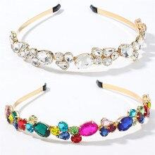 Baroque Headbands Hair-Accessories Crown Diamond Girls Wholesale Women Luxury for Pearl