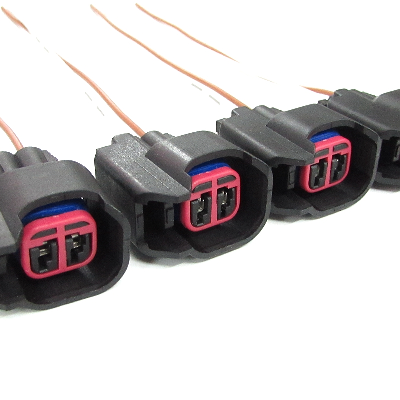 EV6 EV14 FUEL INJECTOR PIGTAILS CONNECTORS for DODGE FORD 5.0L 5.0 CHEVY 5.7L LS2 LS3 GM